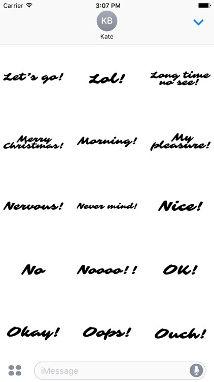 Expressions Handwritten 100+ Stickers
