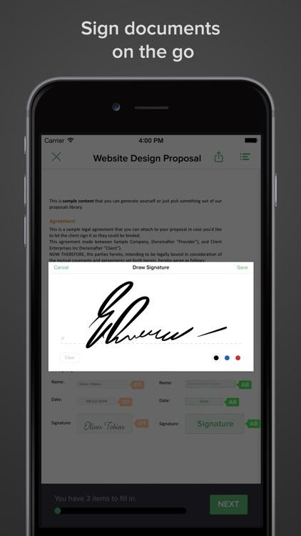 PandaDoc: Electronic signing