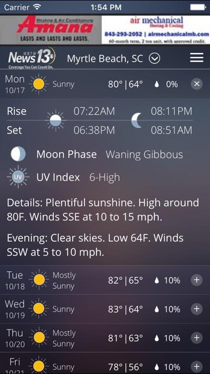 WBTW WX - weather, radar, and forecasts screenshot-3