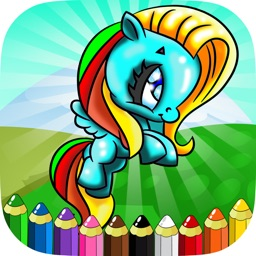 Little Unicorn and Pony Coloring Books Kids Games