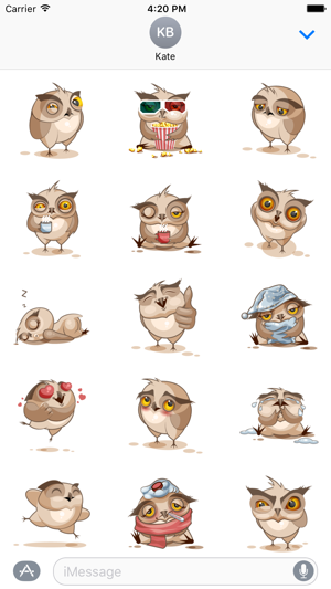 Owl Stickers Screenshot