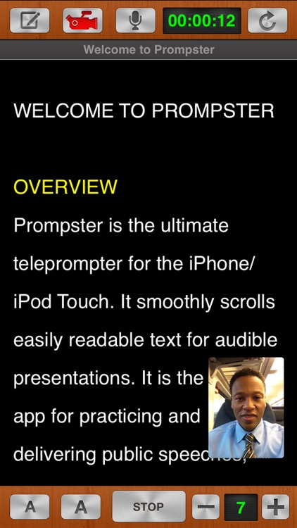Prompster™ - Teleprompter screenshot-0
