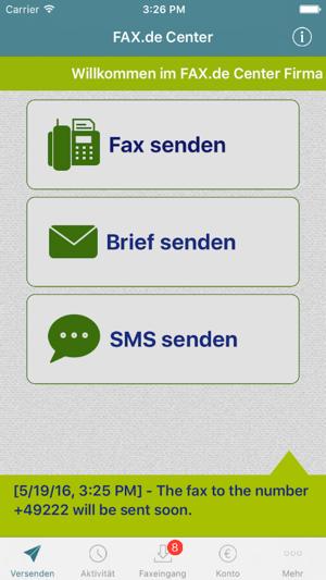 fax de center をapp storeで