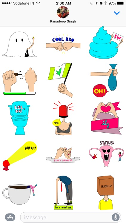 LINGO Stickers - Fun & Cool Illustrated Stickers screenshot-0