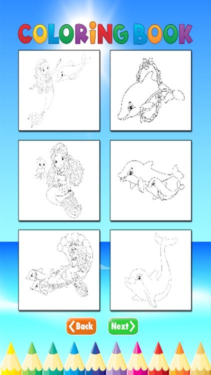 Mermaid Animal Coloring Book - for Kids screenshot-3