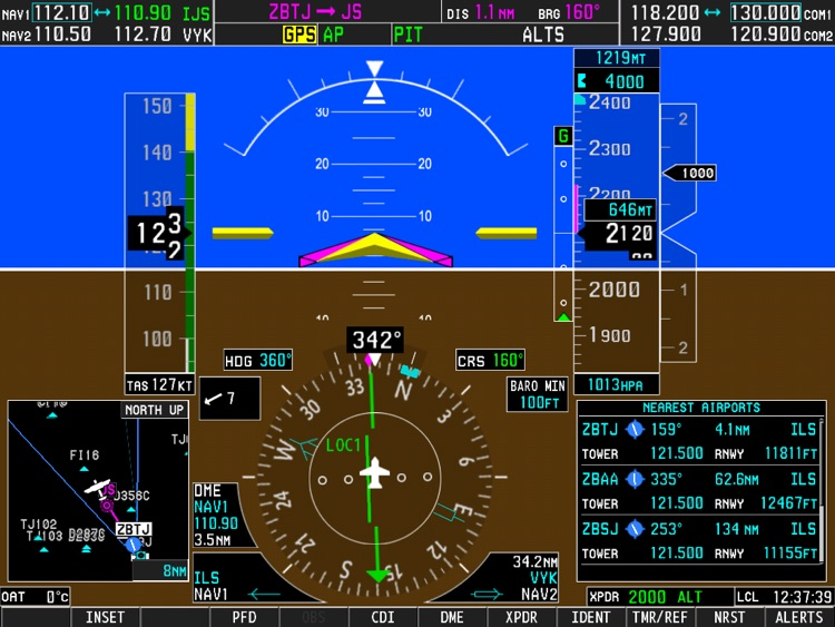 Simionic G1000 (PFD) screenshot-1