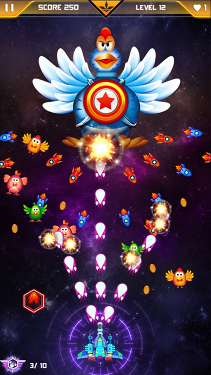 Chicken Shooter - Galaxy Invaders 2017 HD