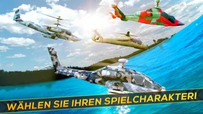Hubschrauber Krieg 3D . Flugzeug Simulator SchießScreenshot von 3