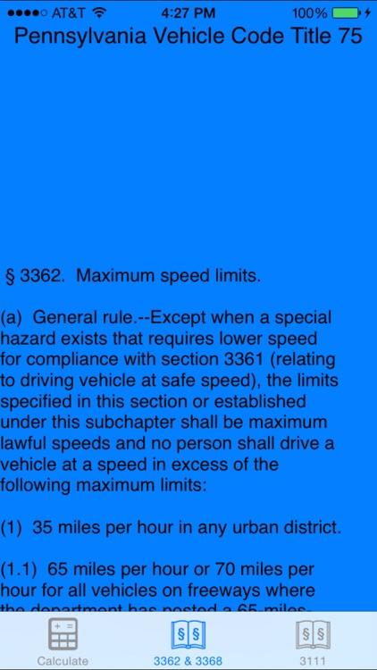 PA Speed Calc