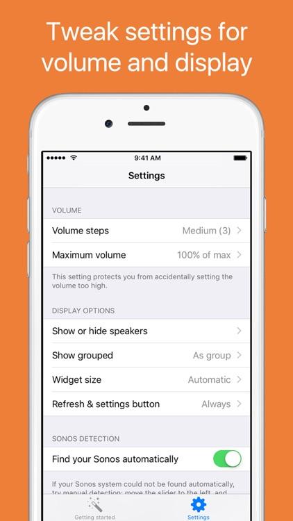 SonoControls - controller widget for Sonos screenshot-3