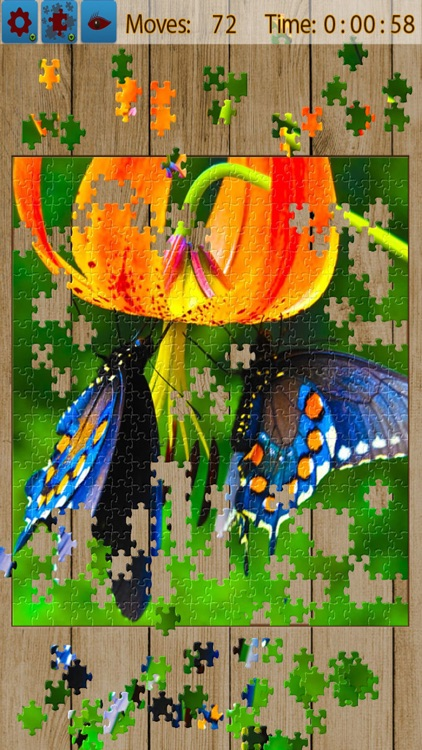 Butterfly Jigsaw Puzzle Game