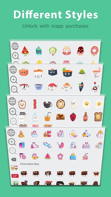Kawaii Food Emoji Keyboard & Sticker Packs screenshot-3