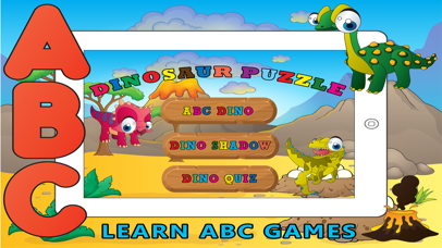 Learn ABC Dinosaur Shadow Puzzle - Flash Card Game
