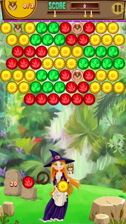 Rouge Bubble Shooter Witch Magic Society screenshot-4