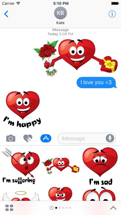 Emotion Heart Sticker - Emoji screenshot-3