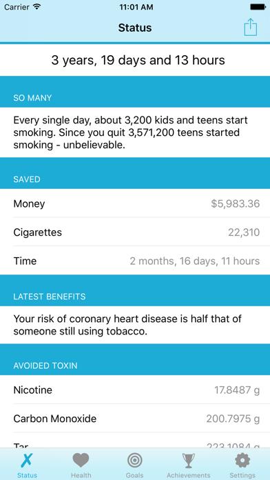 Quit It - stop smoking today screenshot one