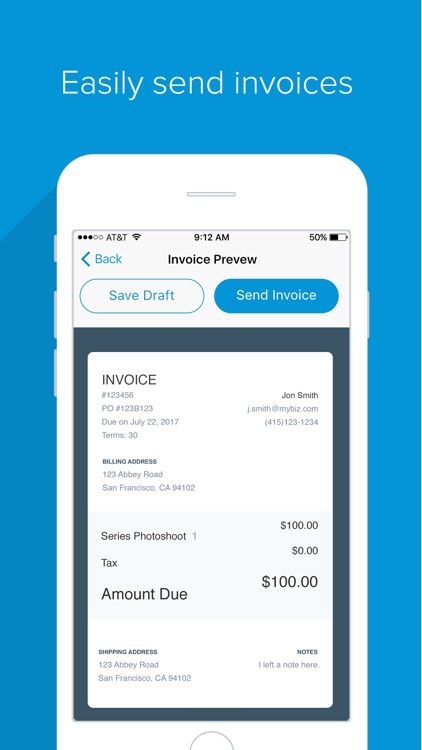 Flint - Accept Cards, No Dongles.  Invoicing. app image
