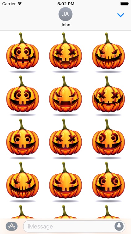 Happy Halloween Pumpkin Sticker Pack 03