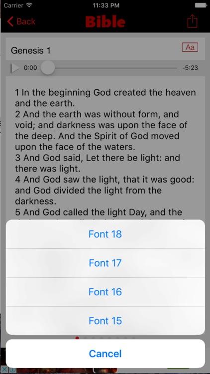 King James Version Bible (Audio) screenshot-4