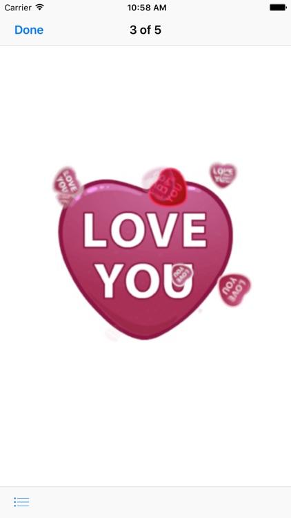 Hearts - Animated Stickers screenshot-3