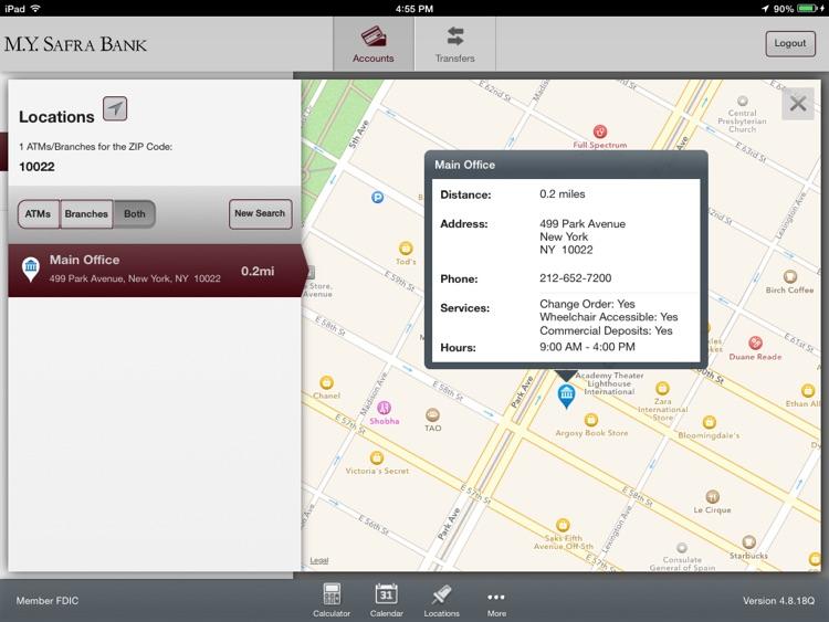 M.Y. Safra Bank - Mobile Banking for iPad screenshot-4