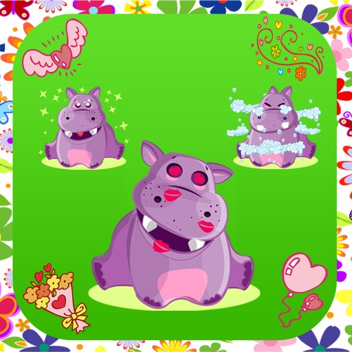 Hippo Cute Sticker