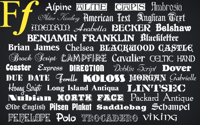 Free Fonts: 550 Commercial Use OpenType Fonts on the Mac App Store