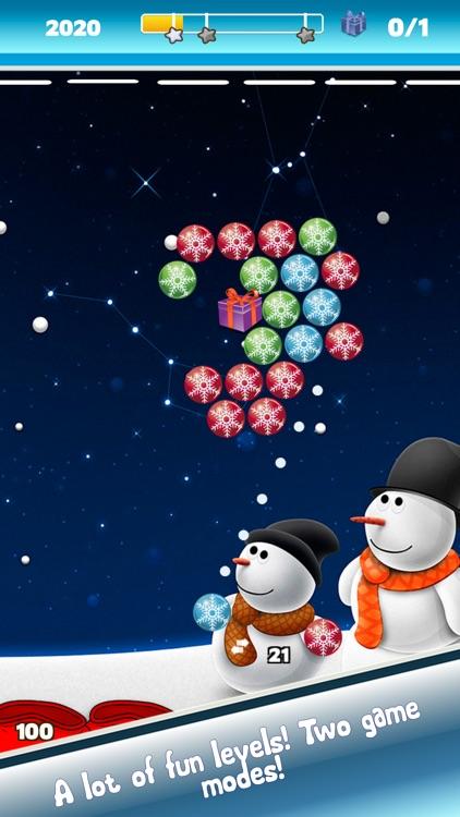 Bubble Shooter New Year - Winter holidays screenshot-3
