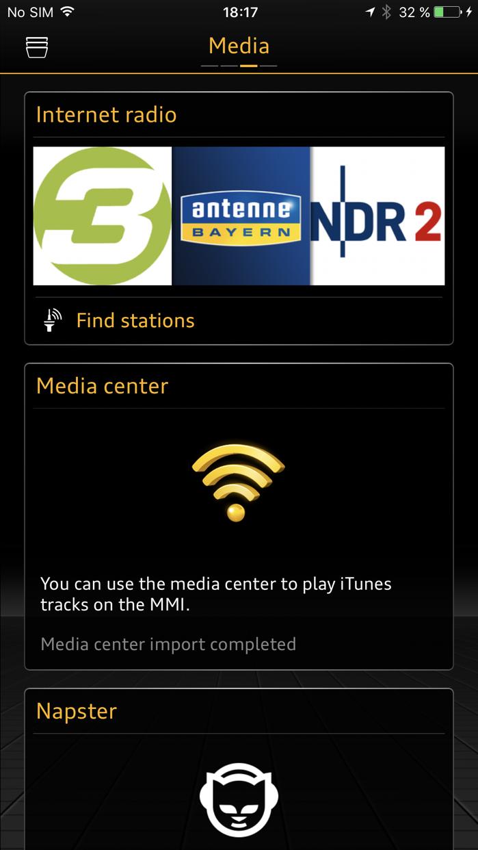 MMI connect Screenshot