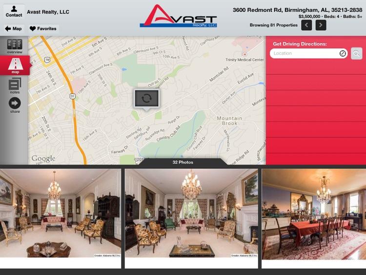 Avast Realty for iPad