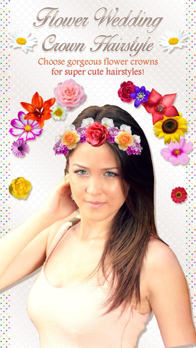 Flower Wedding Crown Hairstyle Makeover Edit App