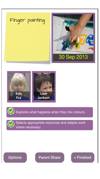 2Simple 2Build a Profile (EYFS KS1 record keeping) screenshot two