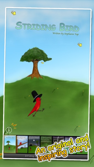 Striding Bird - An inspirational tale for kids Screenshot