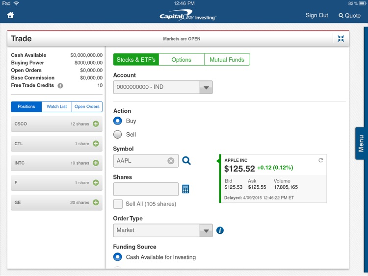Capital One Investing for iPad screenshot-4