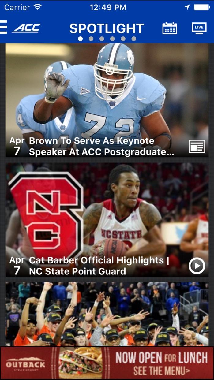 ACC Sports - Official App Screenshot