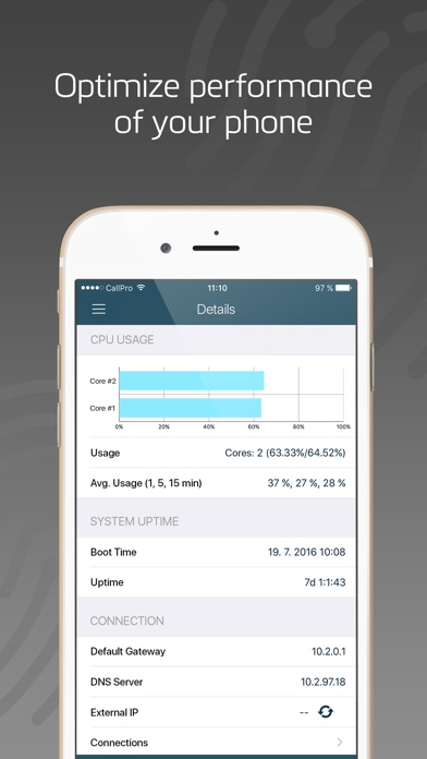 Iphone network monitor