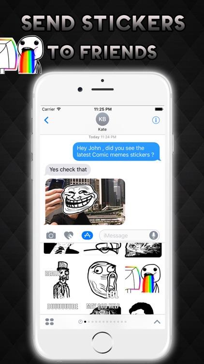 Rage Comics Memes Emoji Stickers for iMessage