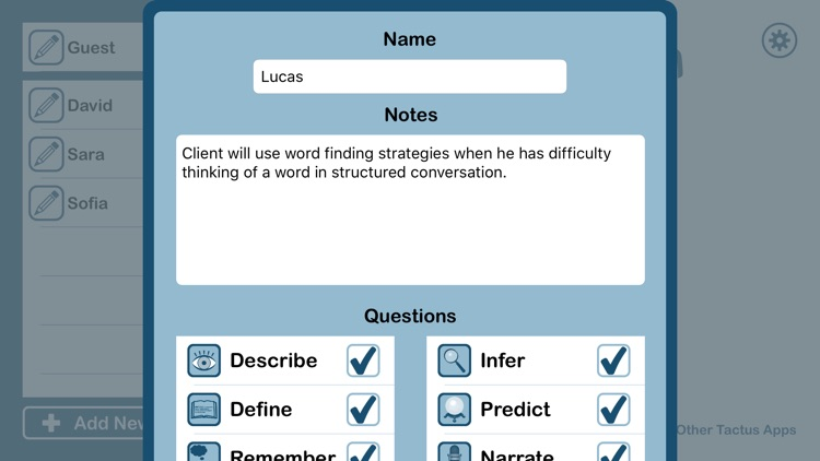 Conversation Therapy Lite - Questions for Expressive Language, Pragmatics, & Cognition screenshot-4