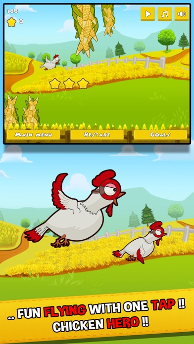 Barney Chicken Invaders - The flying farm heroes Screenshot on iOS