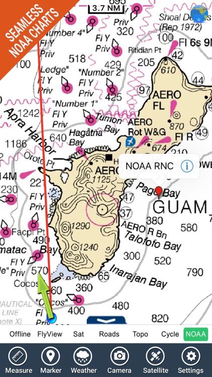 Marine : Guam Island - GPS Map Navigator