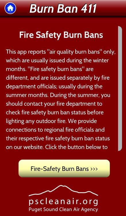 Burn Ban 411 - Real-time air quality burn ban status screenshot-4