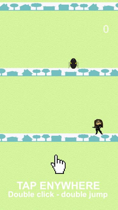 Black Cat Jump vs Spider Ghost screenshot one