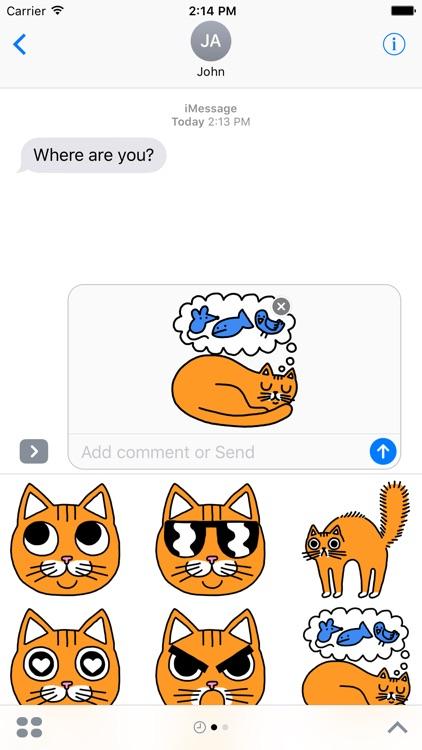Orange Cat Stickers