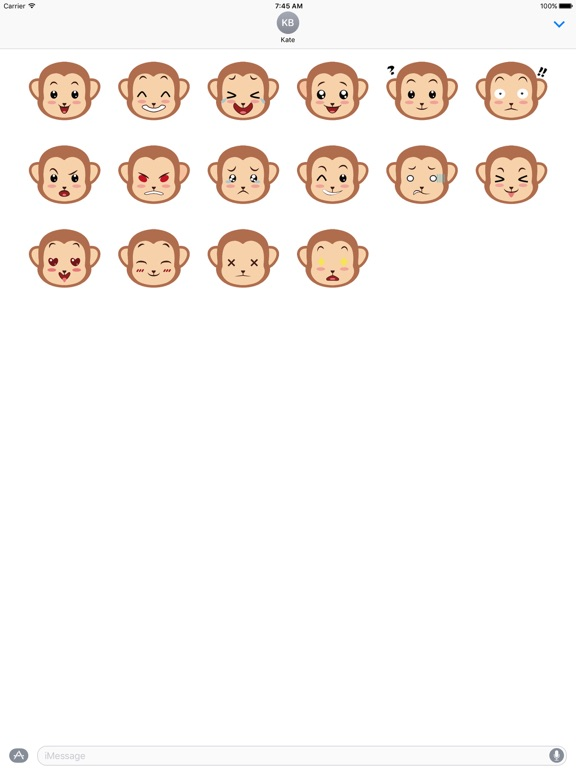Screenshot #1 for Monkey Expressions