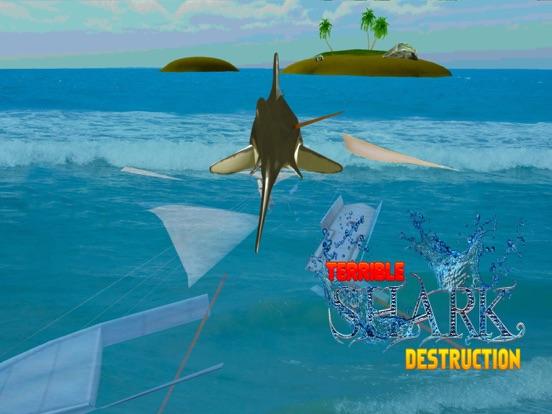 Crazy Shark Attack 3D - A hungry shark simulator-ipad-1