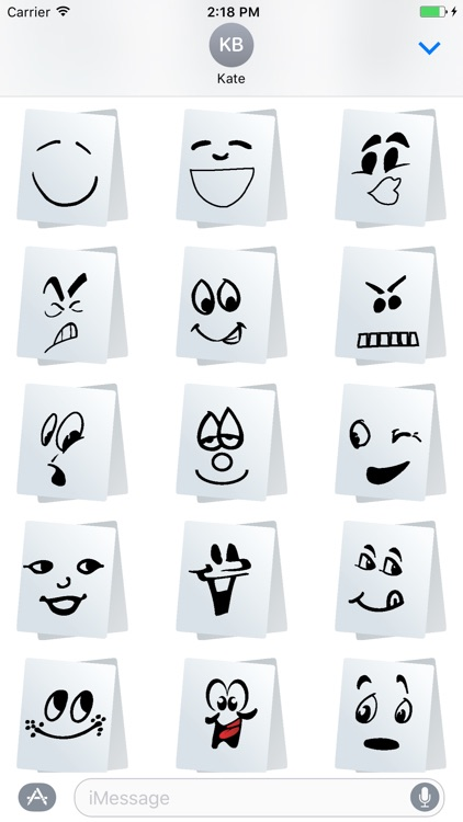 Paper Smiley Stickers for iMessage