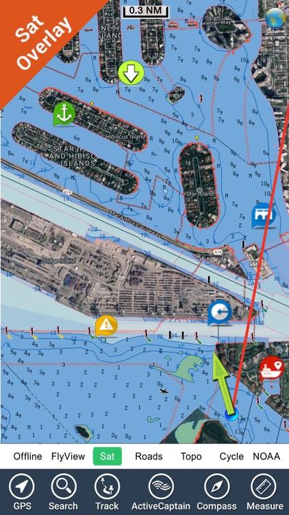 Boating Rhode Island to Maine GPS chart Navigator