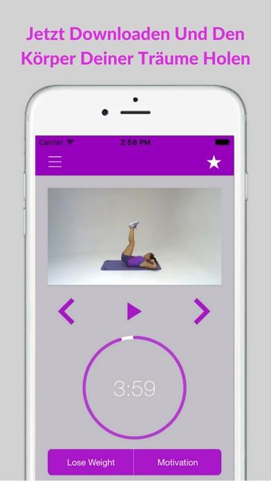 Bauchtraining Workout Fitness Bauch ÜbungenScreenshot von 5
