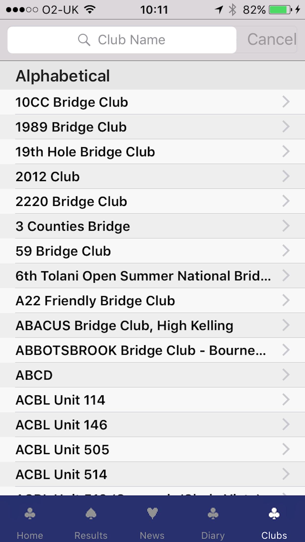 Bridgewebs Screenshot