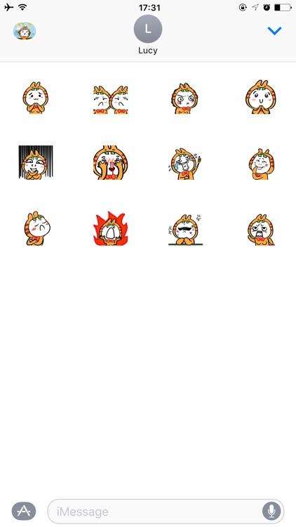 Funny Tiger GIF Sticker